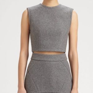 Alexander Wang gray crop top